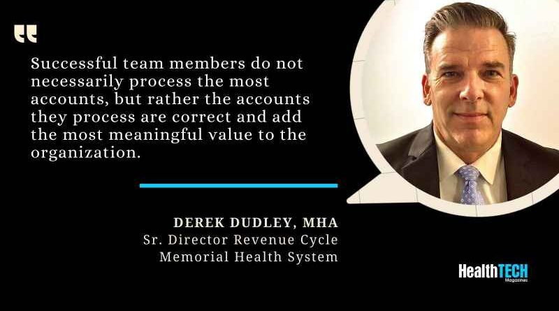 Derek Dudley, MHA, Sr. Director Revenue Cycle, Memorial Health System