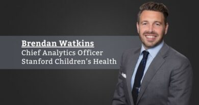 Brendan Watkins, Chief Analytics Officer, Stanford Children's Health