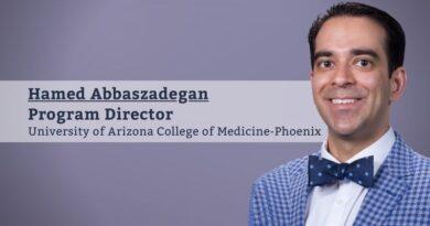 Hamed Abbaszadegan, MD, MBA, FACP, FAMIA, Program Director, Clinical Informatics Fellowship Program, University of Arizona College of Medicine-Phoenix