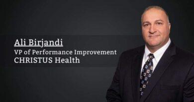 Ali Birjandi, VP of Performance Improvement, CHRISTUS Health
