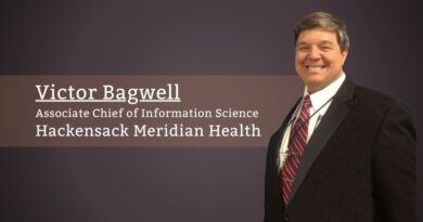Victor Bagwell, Associate Chief of Information Science, Hackensack Meridian Health