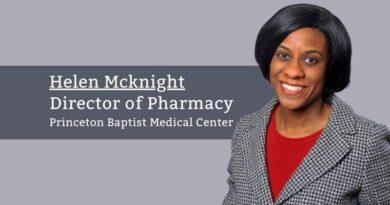 Helen Mcknight, Director of Pharmacy, Princeton Baptist Medical Center
