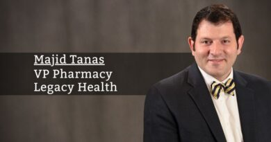Majid Tanas, PharmD, MHA, MS, VP Pharmacy, Legacy Health